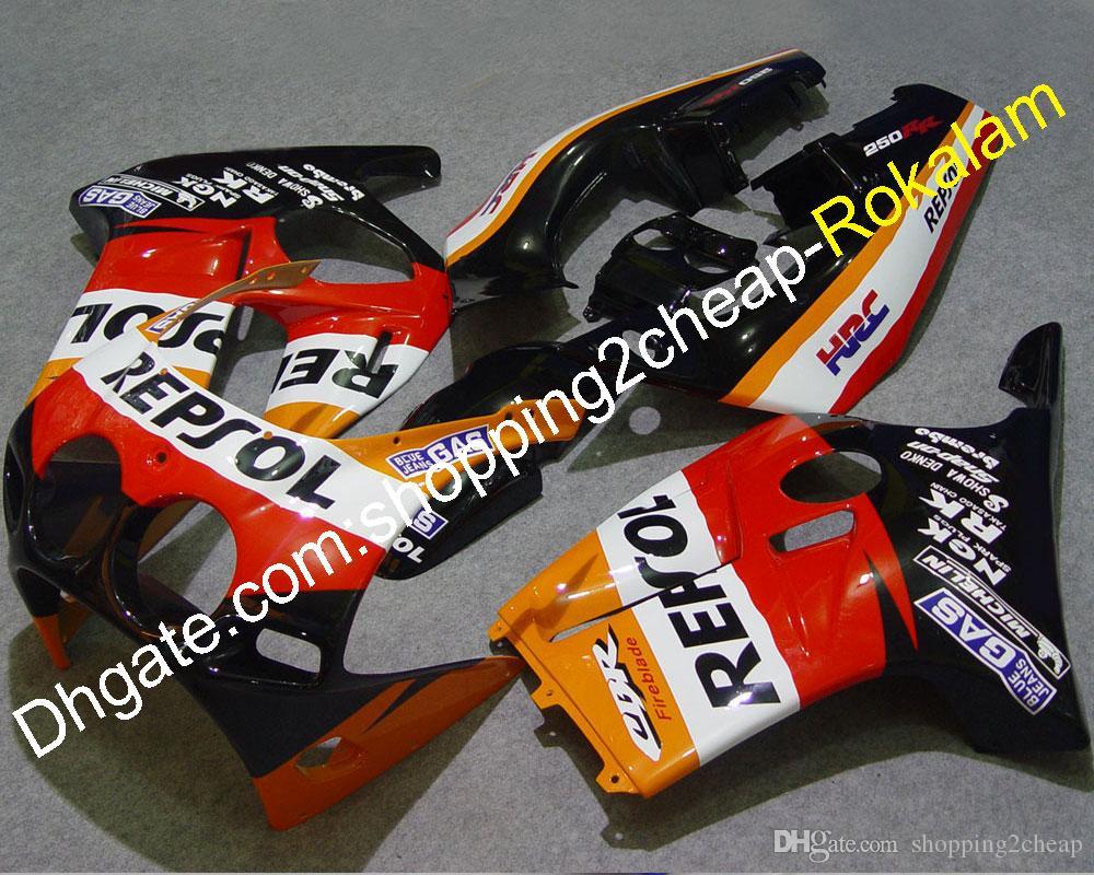 Cheap Fairing For Honda CBR250RR CBR250 RR MC19 1988 1989 88 89 Red Motorcycle Bodywork Complete Fairings Kit (Injection molding)