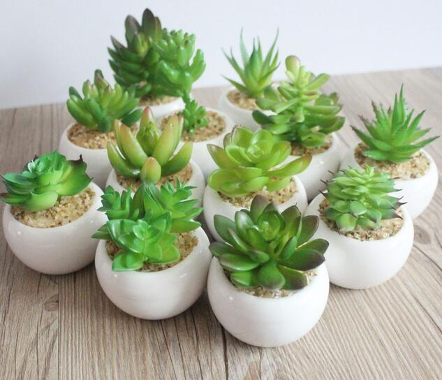 النباتات الخضراء بوعاء الاصطناعي أشجار القزم miniascape بوعاء الديكور للمنزل شرفة نباتات الزينة زهرة عصاري 4 قطع
