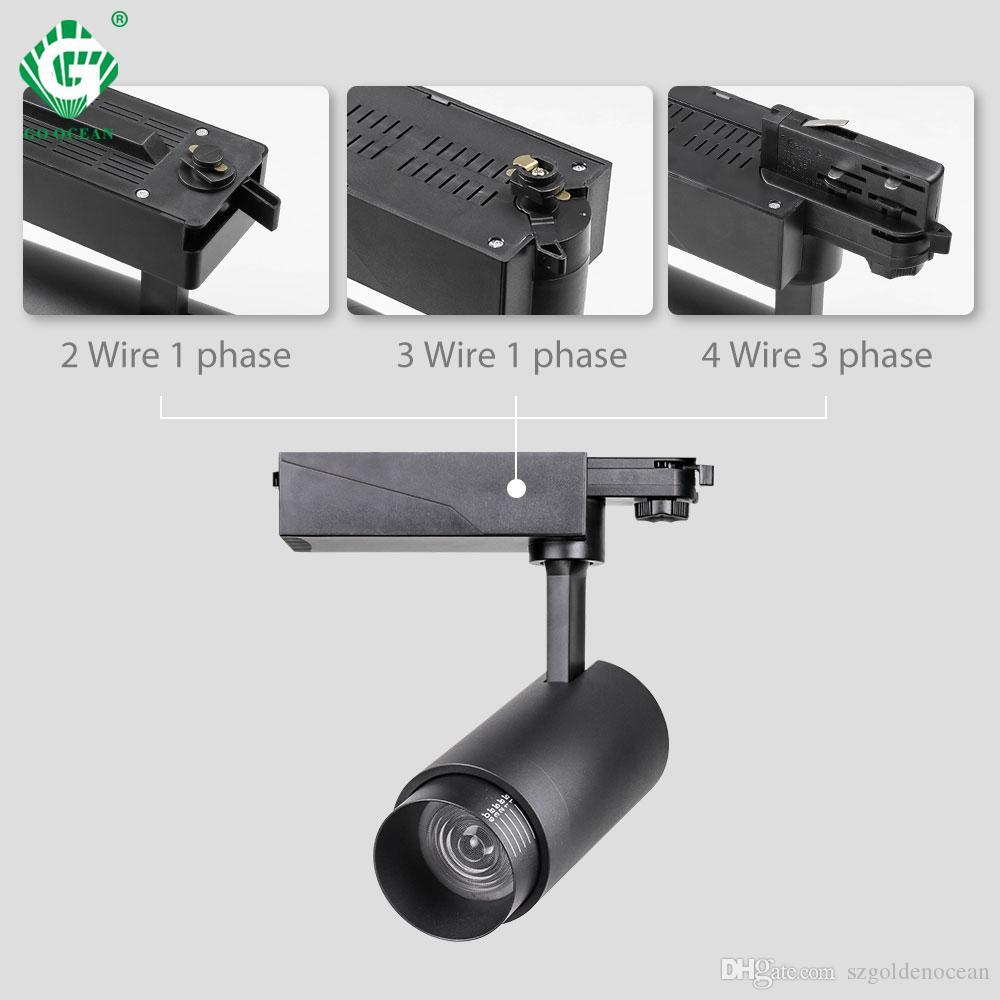 2.4G RF نظام التحكم اللاسلكي LED المسار ضوء سطوع CCT عكس الضوء أضواء المسار زوومابلي 20W الإضاءة في الأماكن المغلقة الألومنيوم ضبط اللون