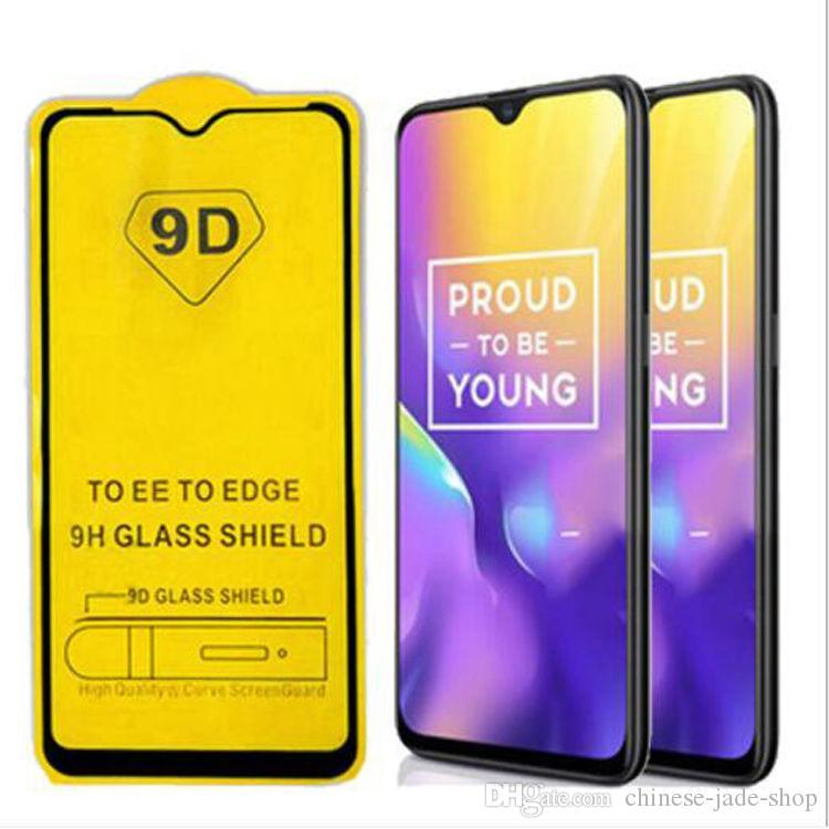 Couverture complète 21D 9D Température Glass Screen Protector AB Colle to Samsung Galaxy J7 2018 A8 A9 Star Lite J4 J6 Plus 200pcs