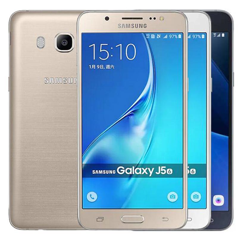 Celular Quad Core 2 GB de RAM 16GB ROM 13MP 4G LTE inteligente remodelado Original Samsung Galaxy J5 2016 J510F Único SIM 5,2 polegadas