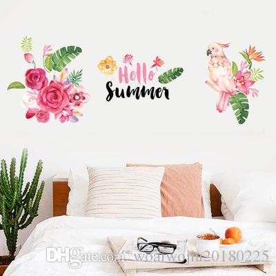 20190623 Flores e plantas Parrot Wall Sticking