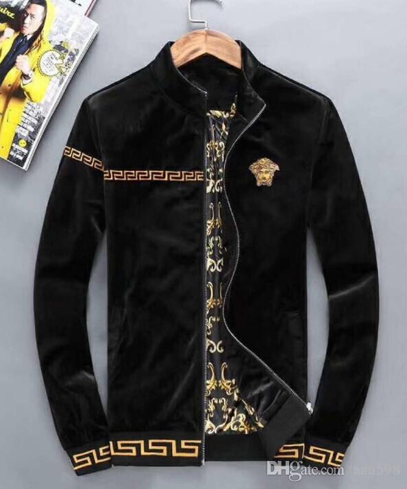 esportes de veludo ouro adequar o transporte livre casaco de mangas compridas com capuz casuais terno outono e inverno dos homens dos homens