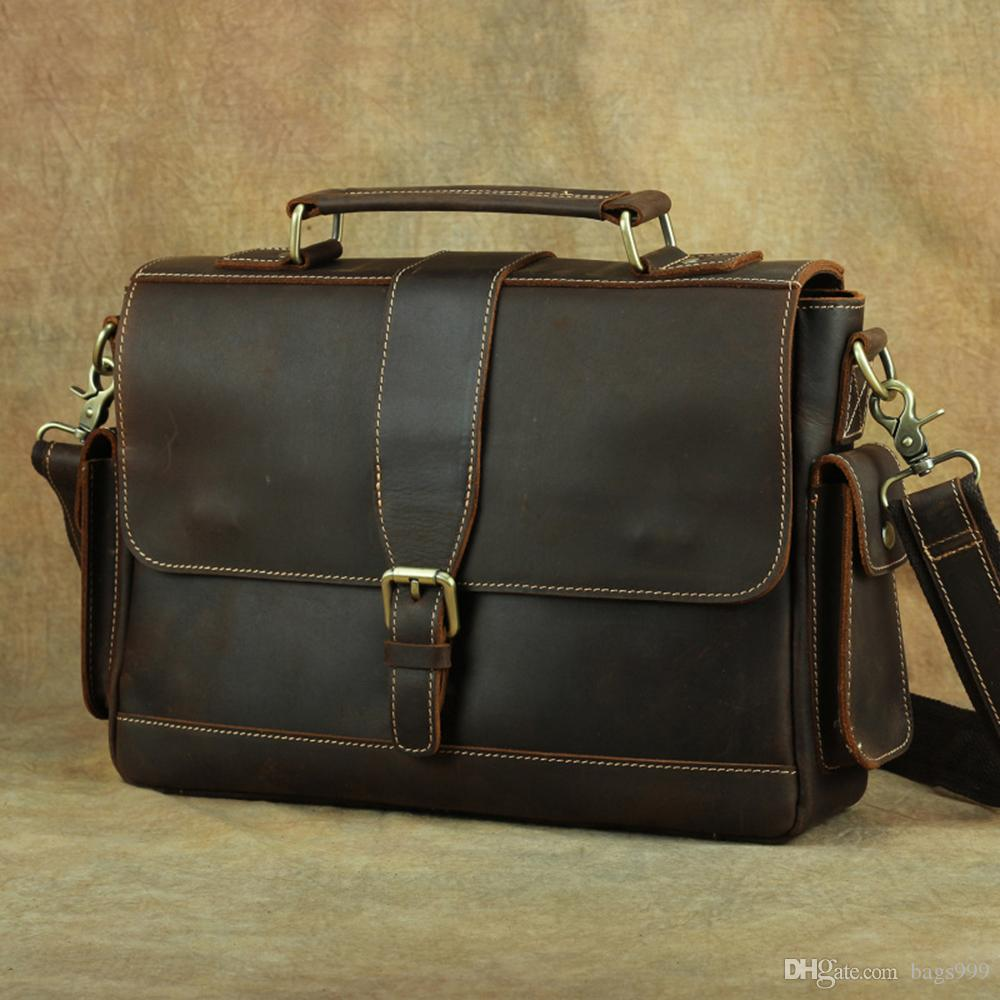 Men Genuine Leather Cross Body Messenger Shoulder Bag Briefcase Tote Handbag New