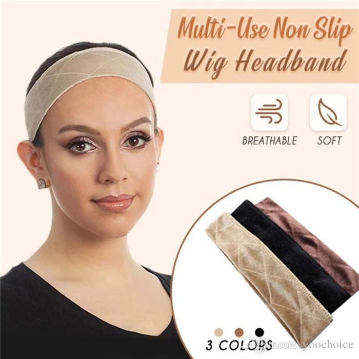 Многоцелевой Non-Slip 3 цвета парик волос оголовье с Velvet парик волос Ленточные аксессуары Fixed Anti-Slip волос 30шт