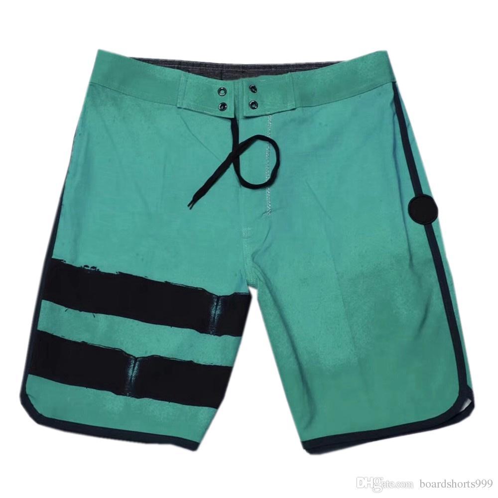 A estrenar de los cortocircuitos del ocio spandex elastano para hombre Bermudas Shorts Junta Bañador Pantalones cortos pantalones de la playa de alta calidad rápida seco flojo de los troncos de nadada