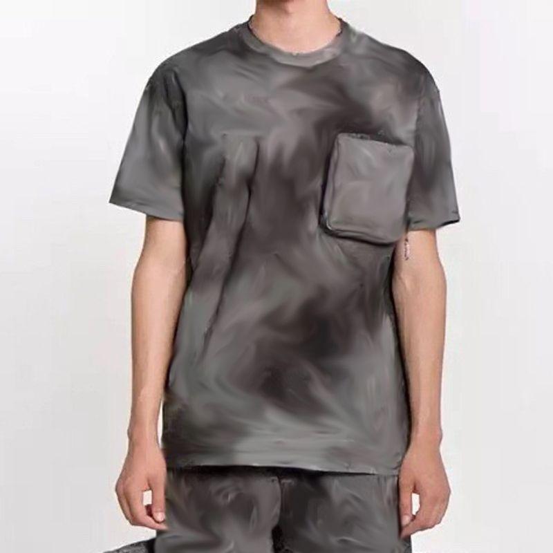 20SS жаккарда Monogram 3D печати Color Matching T-Shirt Молодые моды Короткие рукава Лето High Street Crew Neck Футболка Tee HFYMTX678
