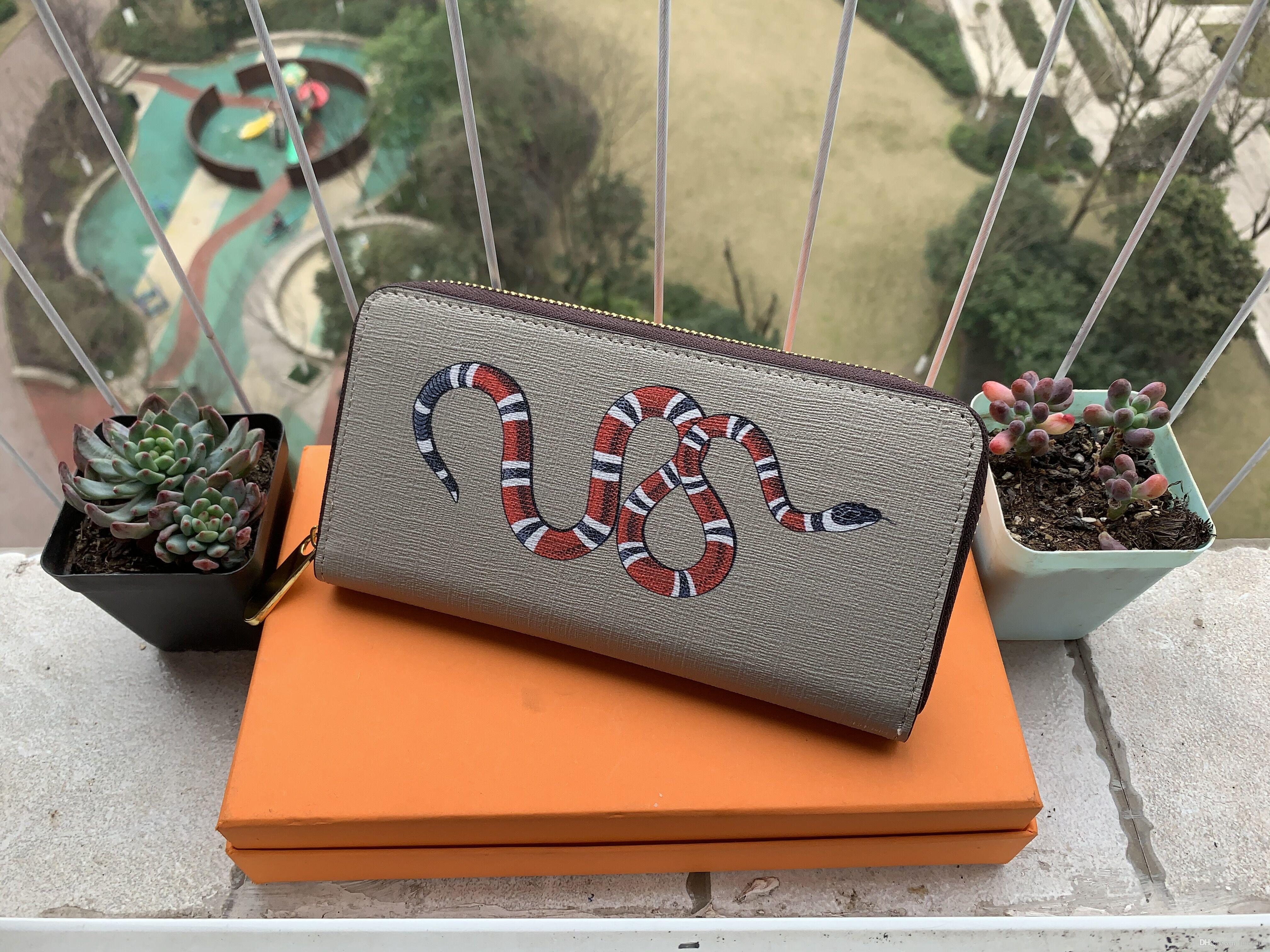 Carteira das mulheres dos homens de alta qualidade da carteira Moda Explosão Designer 2019 Luxo Multicolor opcional de cartão de crédito Carteiras com caixa