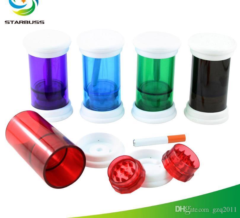 New Concept Smoke Grinder Пластиковые коптильные машины Четырехслойные ручные коптильные машины