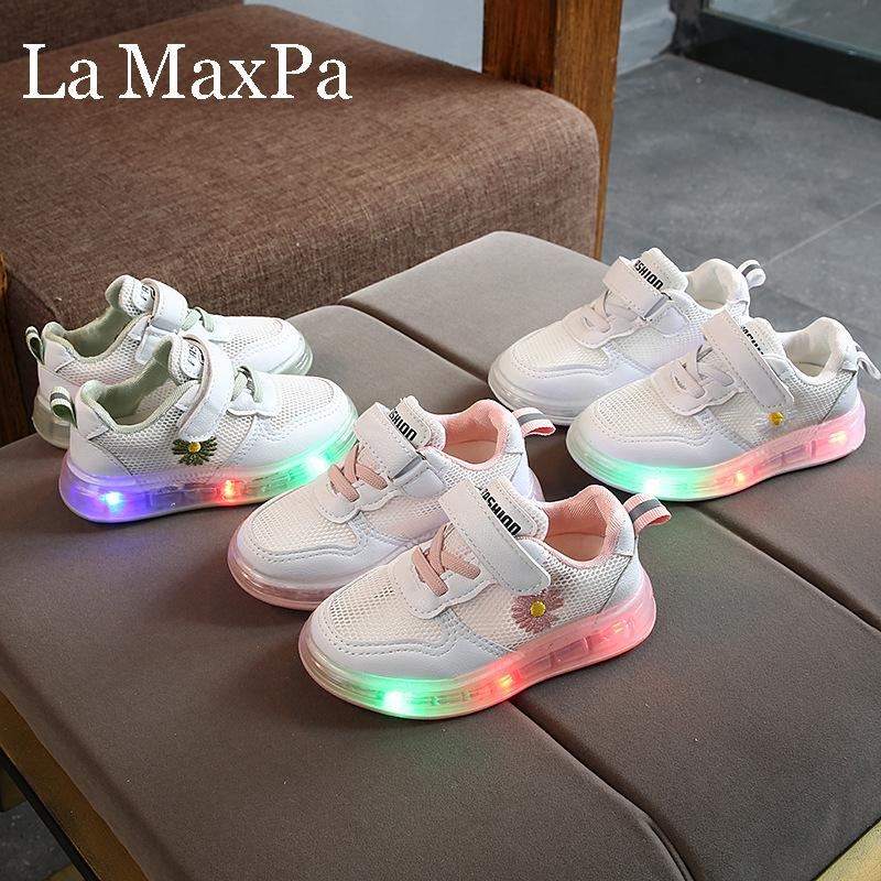 2020 New Children Glowing Sneakers for Boys Air Mesh Breathable Kids Led Shoes for Girl Light Up Shoes chaussure lumineuse