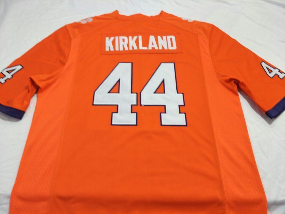 Hommes Clemson Tigers Levon Kirkland # 44 broderie complète College Jersey Taille S-4XL ou personnalisé n'importe quel nom ou numéro jersey