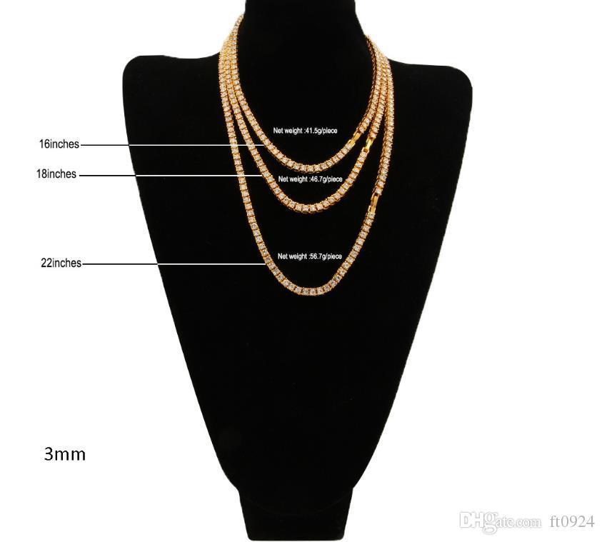Взрывоопасные европейские и американские модные привлекательные хип-хоп 3-миллиметровые водные дрели из ряда ожерелий Золото Серебро Розовое золото мульти-специфическое