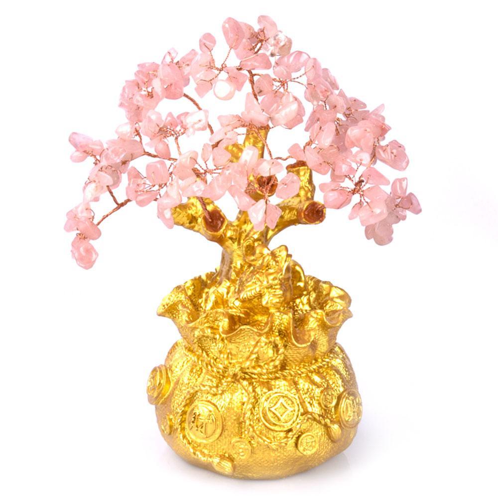 Mini cristal dinero árbol bonsai estilo riqueza suerte feng shui trae riqueza suerte decoración del hogar regalo de cumpleaños