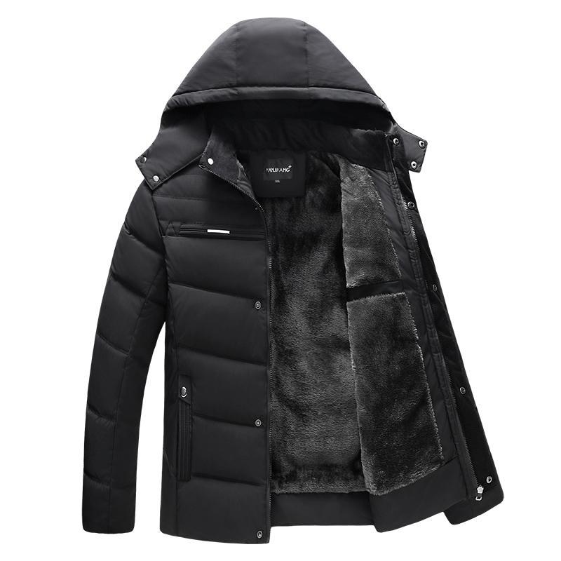 Parka Мужчины Пальто 2018 Зимняя куртка Мужчины сгущает с капюшоном Водонепроницаемый верхней одежды теплое пальто отцов одежда Повседневная Мужская Шинель 4XL