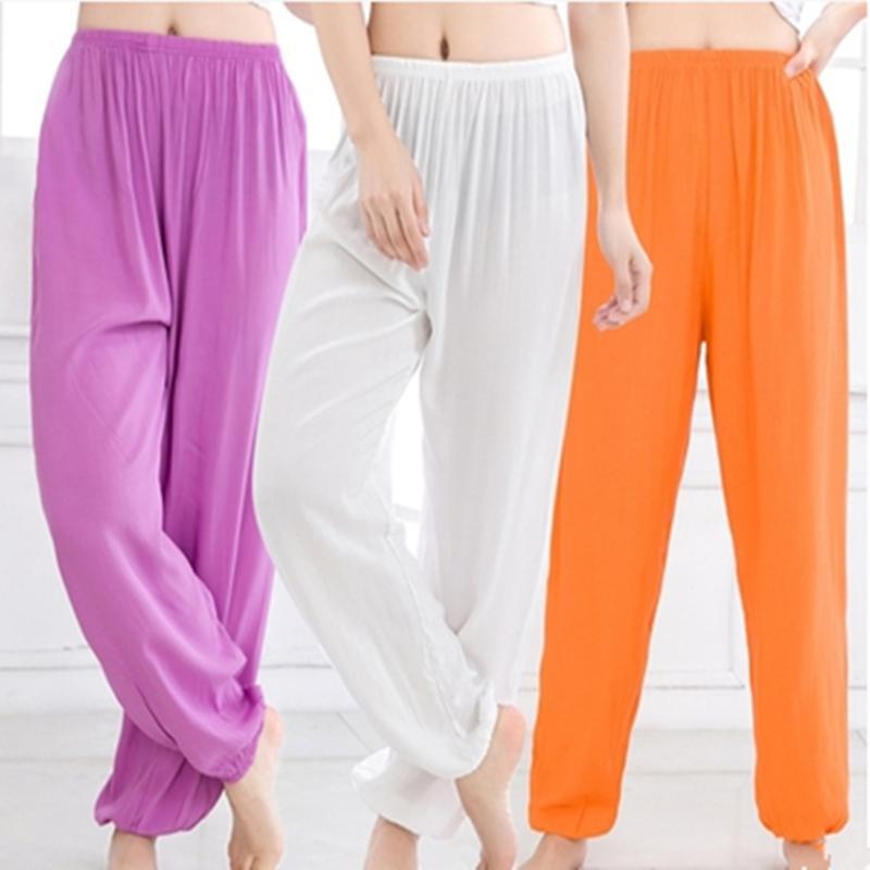 15 couleurs 3XL Taille Plus Hommes Femmes Yoga Pantalons Tai Chi Pantalons Mosquito danse taille haute coréenne Gym Plage Porter des vêtements de sport d'entraînement