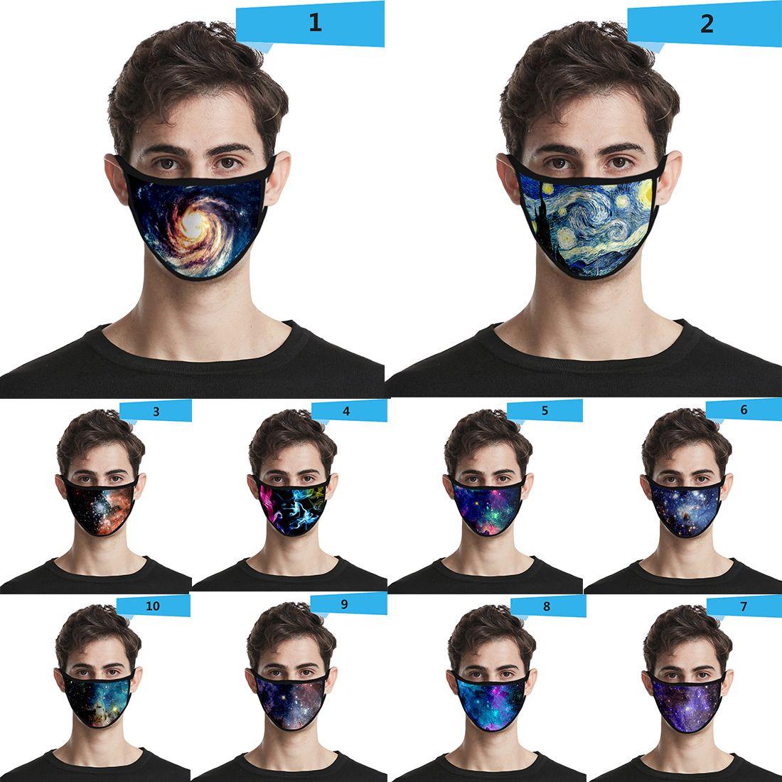 Cover Sky 3d пылезащитный мода печатание ледяной шелк мальчики девушка малыш маски для взрослых дизайнер для лица маска для лица хлопок ресурсы