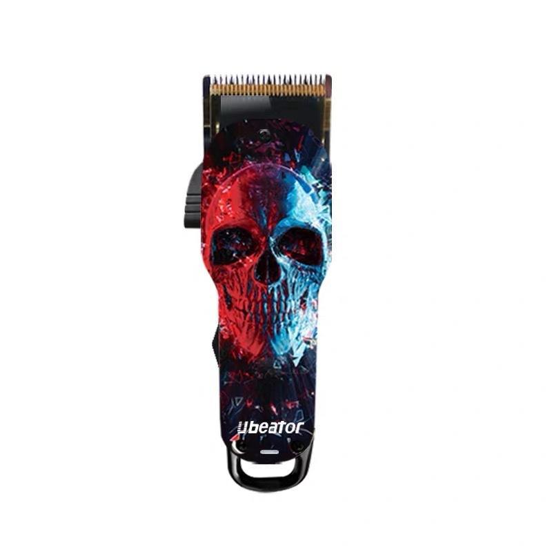 Новая электрическая мужская беспроводная стрижка машина граффити парикмахерская машинка для стрижки волос профессиональный цифровой триммер Перезаряжаемый с керамическим лезвием
