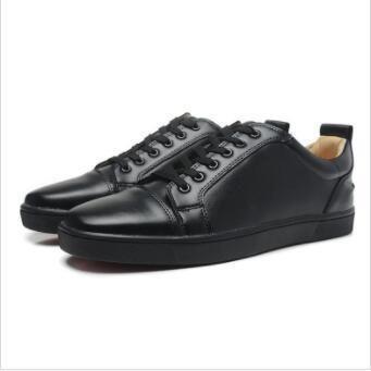points de créateurs de nouveaux hommes sur pieds semelles rouges bas Strath de luxe coupé en daim noir, les hommes et les femmes marque de marque