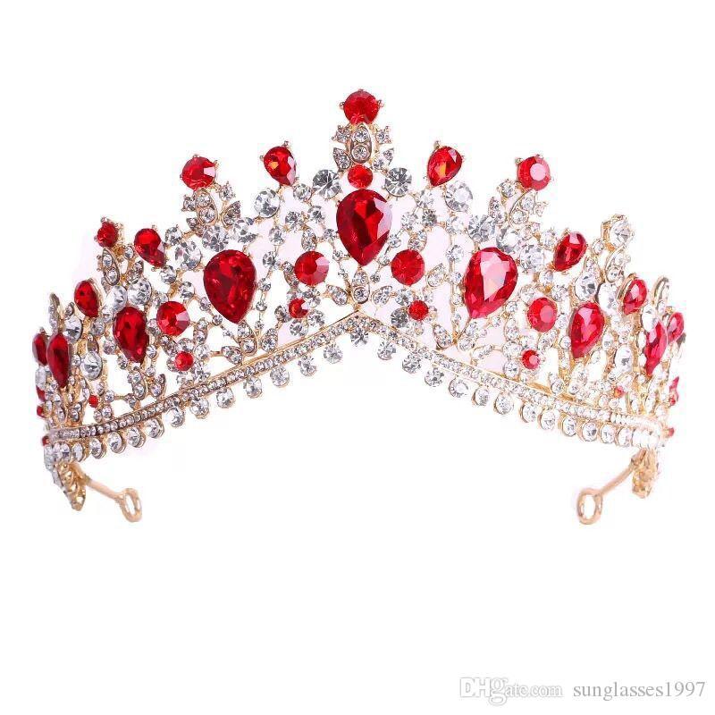 2019 новая тенденция корейский горный хрусталь корону самый продаваемый высокого класса крона невесты свадебное платье аксессуары головной убор подарок на день рождения