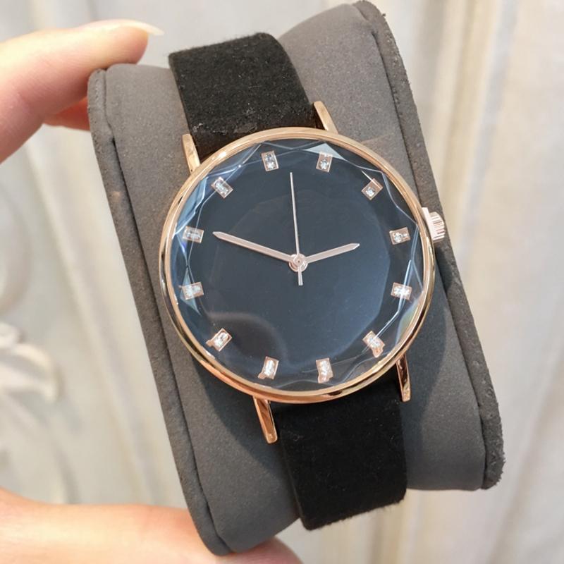 أزياء المرأة الملونة ووتش مع الماس جلد طبيعي فاخر ساعة اليد النسائية اليابان حركة كوارتز ساعة أسعار الجملة