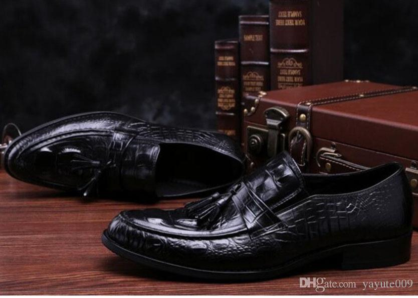Moda uomo vera pelle scarpe casual primavera uomo appartamenti pigro maschile oxford uomini morbidi scarpe in pelle Chaussure Homme 66-310