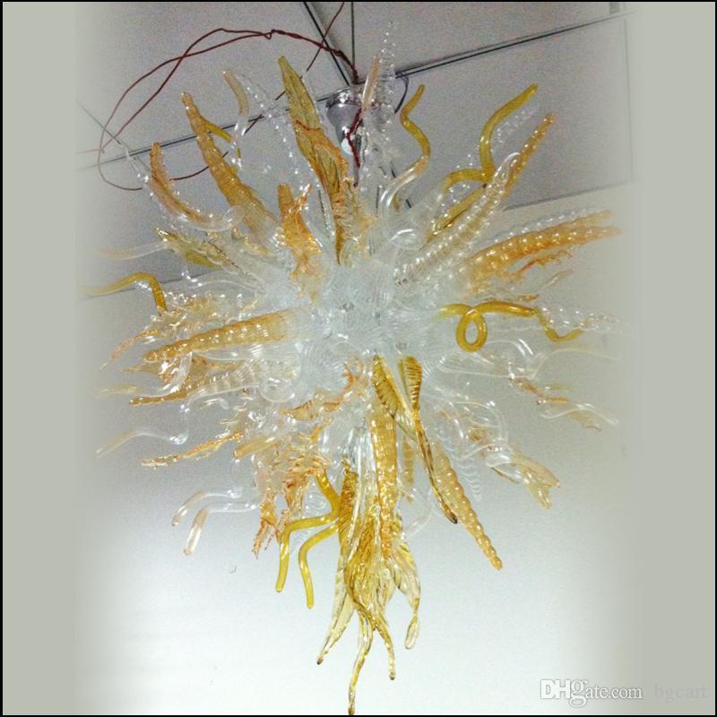 تخصيص الملونة الفن اليدوية الزجاج المنفوخ الثريا للمصابيح قلادة البورسليكات منزل جديد الديكور الفم في مهب