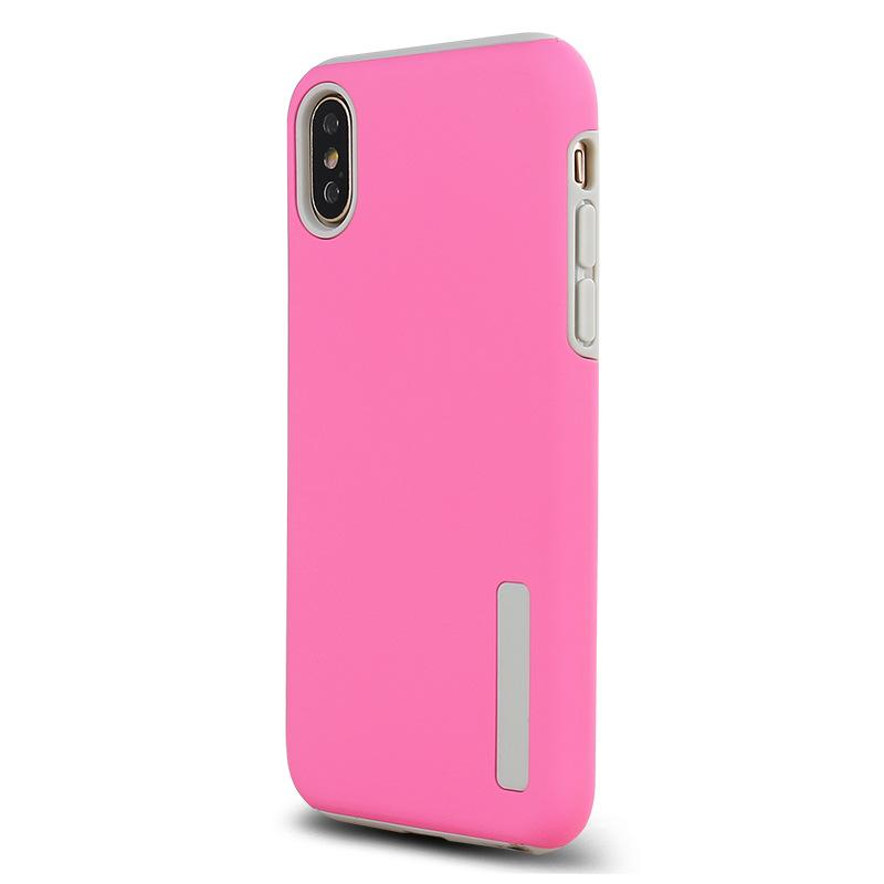 Abrasif 2 en 1 TPU PC Cover Cover pour iphone xs max xr 8 7 6s 6 plus Samsung s9