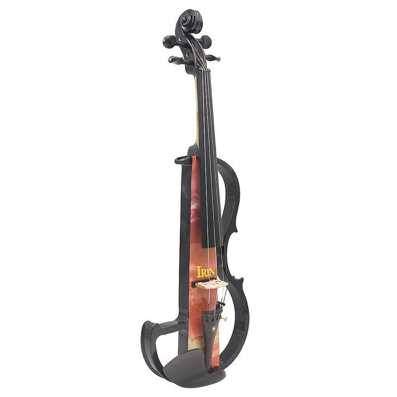 IRIN 전체 크기 바이올린 액세서리와 4/4 바이올린 단단한 나무 자동 전기 바이올린 메이플 바디 흑단 지판 못