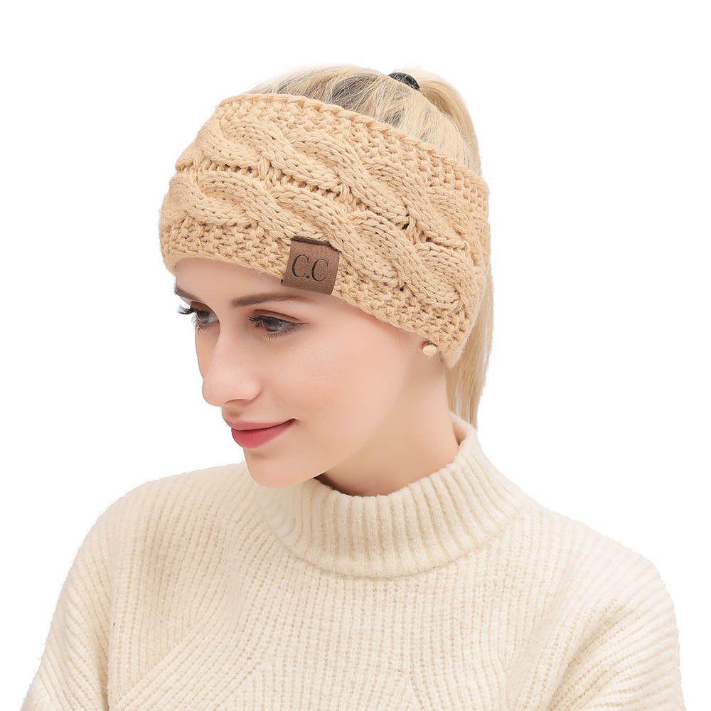 Winter Damen Punkt Garn stricken Stirnband Stirnbänder Herbst und Winter Gehörschutz warm Haarschmuck Multi Farben Headwear Head Wrap