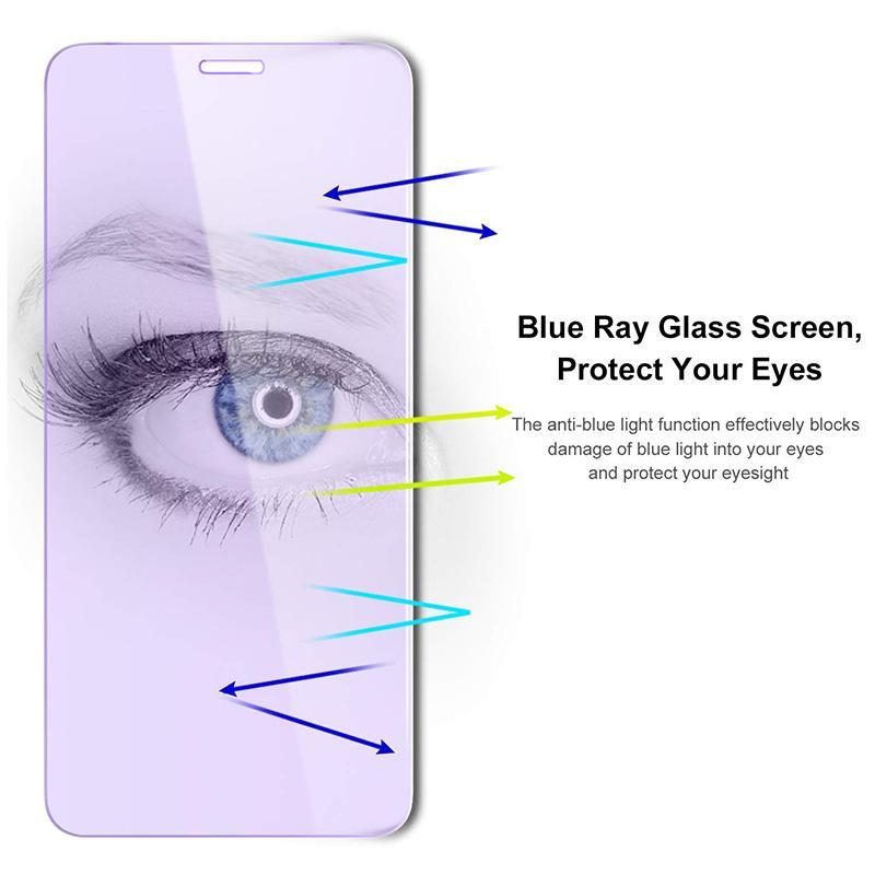 Für Iphone 11 Pro Max für Iphone Xs X Xr Max Ausgeglichenes Glas-Schirm-Schutz für Iphone 8 7 6s 6 Plus Anti Blaulicht