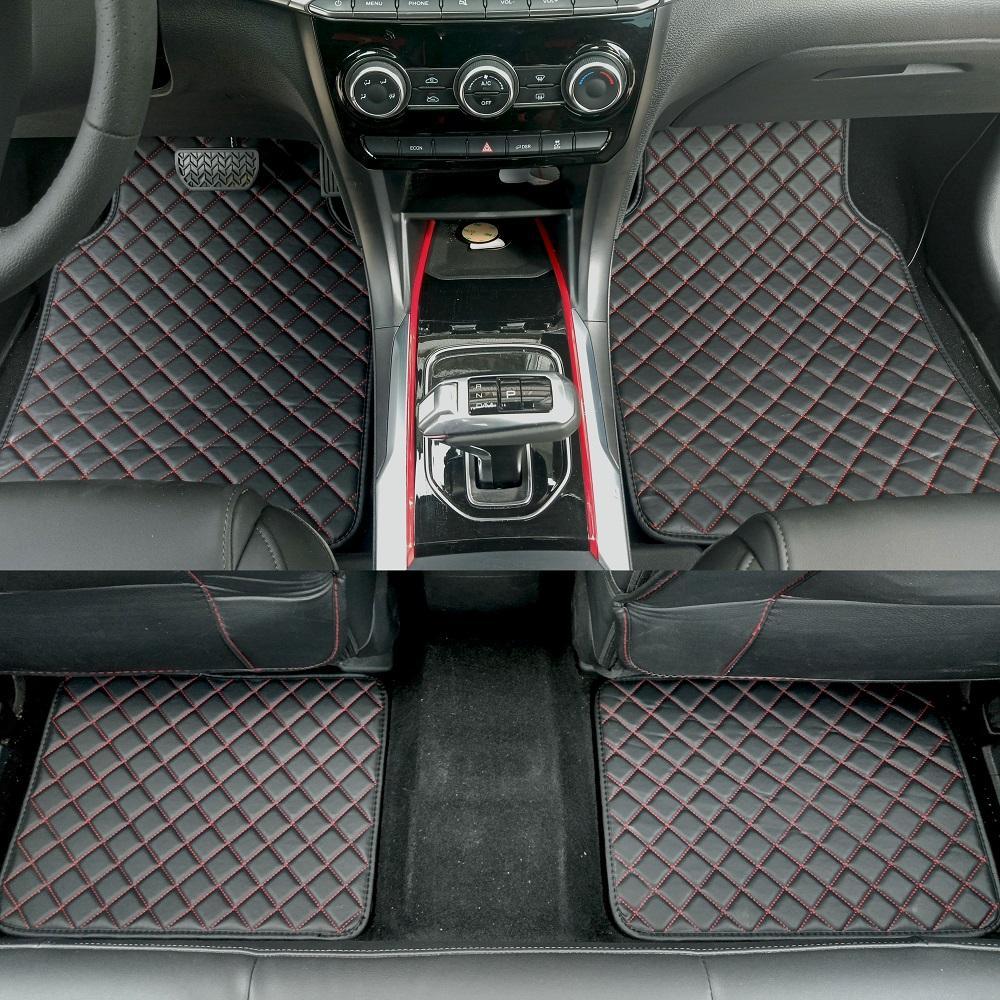 ZHAOYANHUA Universal-Auto-Fußmatten für alle Modelle 3er E46 E90 E91 E92 E93 F30 F31 F34 GT Mini-Car-Styling