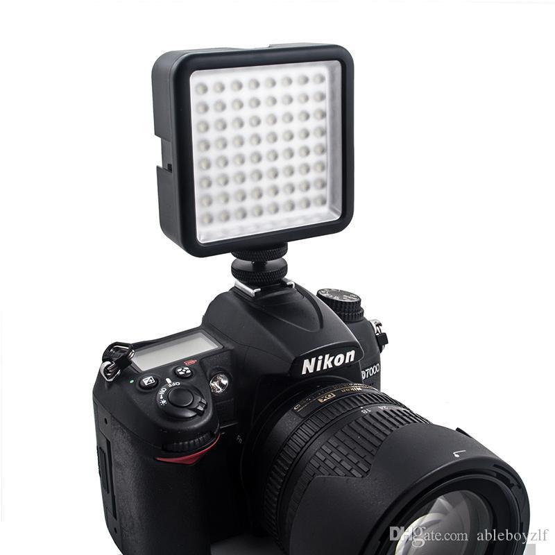 64 ضوء LED فيديو لكاميرا DSLR كاميرا DVR مصغرة مثل ملء ضوء لأخبار زفاف مقابلة Macrophotography