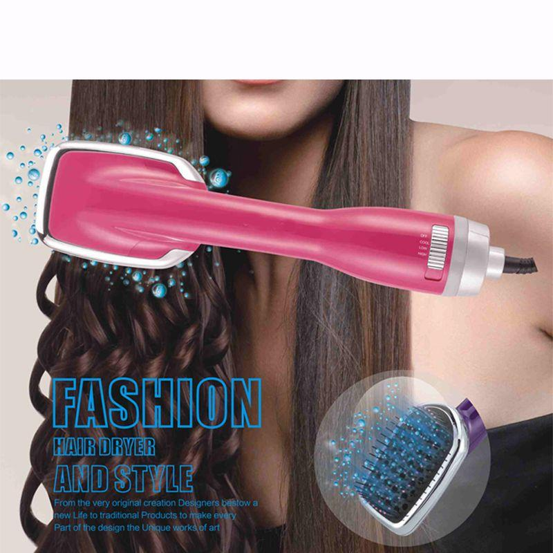 2 in 1 hair dryer brush electric blow multi-function dual-use hairdresser massage comb 2 colors homeuse styling tools