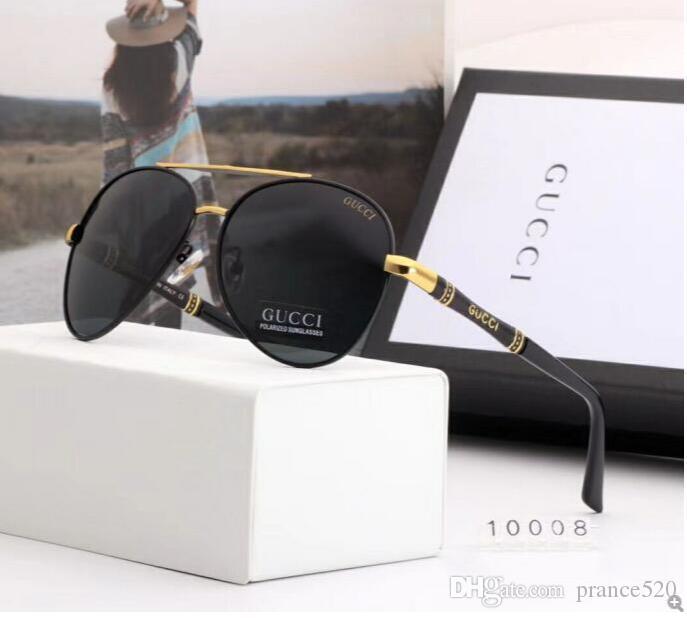 2020 роскошные модные дизайнеры большие металлические солнцезащитные очки для мужчин женщин стеклянные линзы УФ защита солнцезащитные очки 18