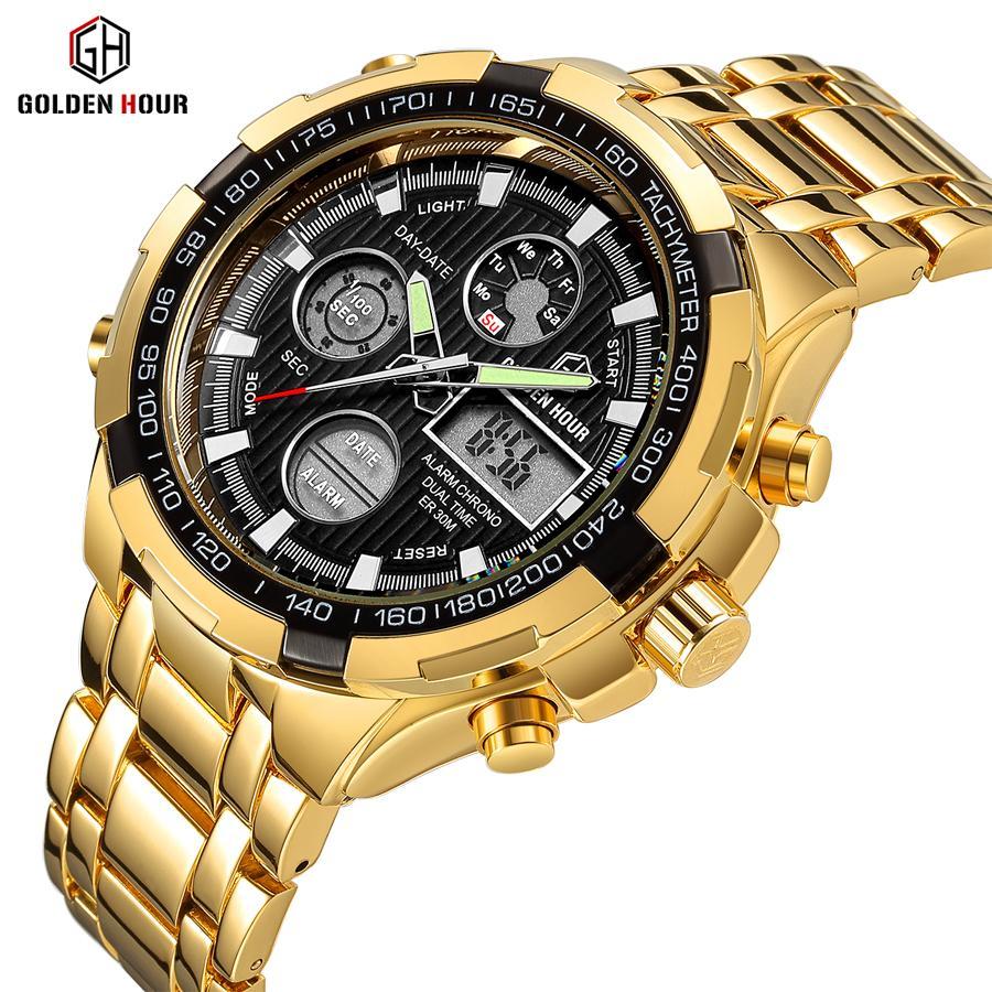 Reloj Hombre luxe Montre en or heure dorée Hommes Montre homme automatique de l'horloge sport homme Montres 2019 Relogio Masculino