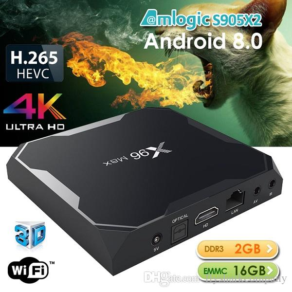X96 Max Amlogic S905X2 Android 8.1 TV Box 4GB 64GB Smart TV Box Support 2.4G+5.8G WiFi With BT4.0 TX6