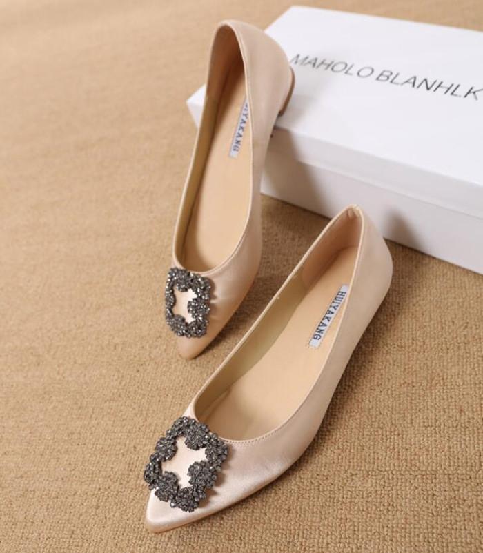 Горячая продажа-н обуви Дамы плоского Женского Trend Женщина обувь Повседневная обувь Элегантный Toes Rhinestone Pionted платье обувь