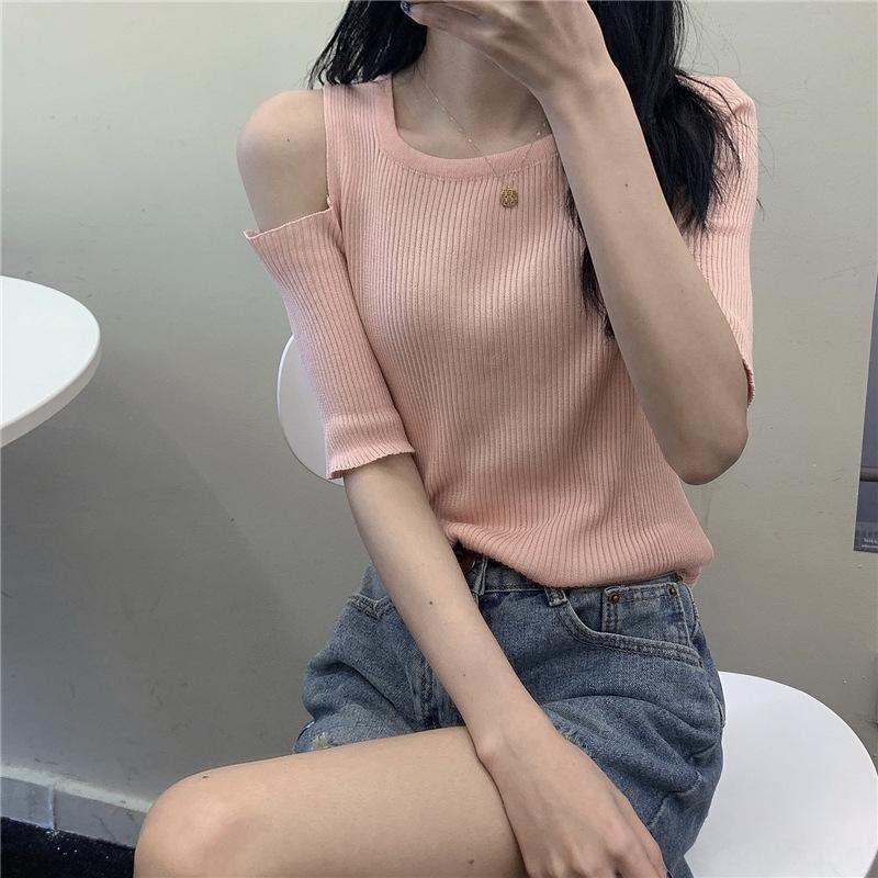 MJaid sottile maglione rotondo 2020 di moda estate maglione pullover delle donne di temperamento dolce pullover collo