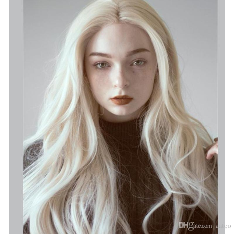hot Long Straight Synthetic Wig Mixed Brown and Blonde Long Wigs for White /Black Women Middle Part Nature Wigs