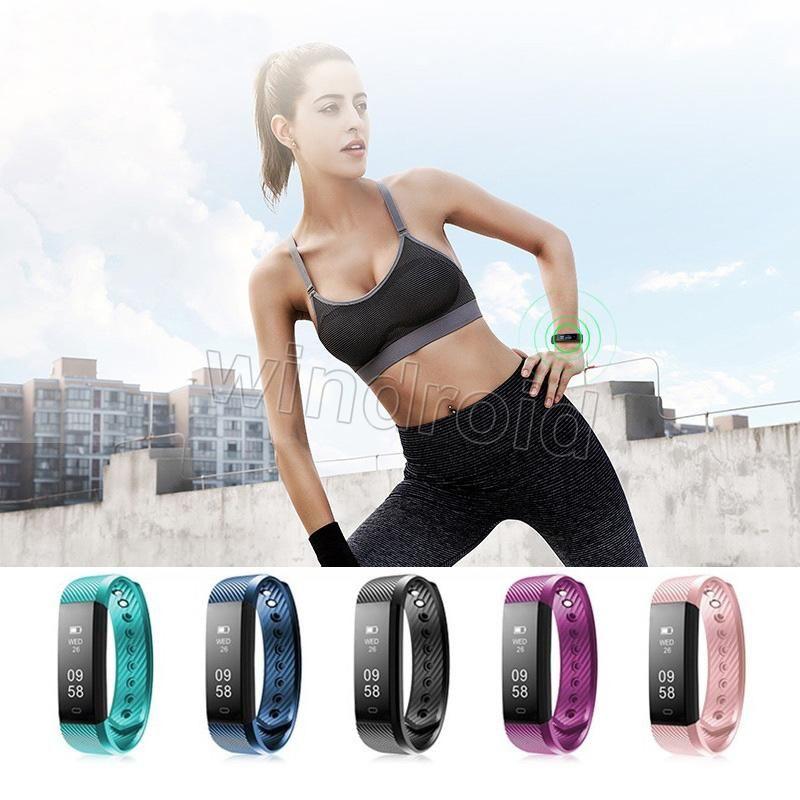 ID115 HR intelligente Bracelet Moniteur de fréquence cardiaque Activité Tracker intelligente bande Bandeaux étanche pour IOS Android avec boîte de détail le moins cher 20pcs