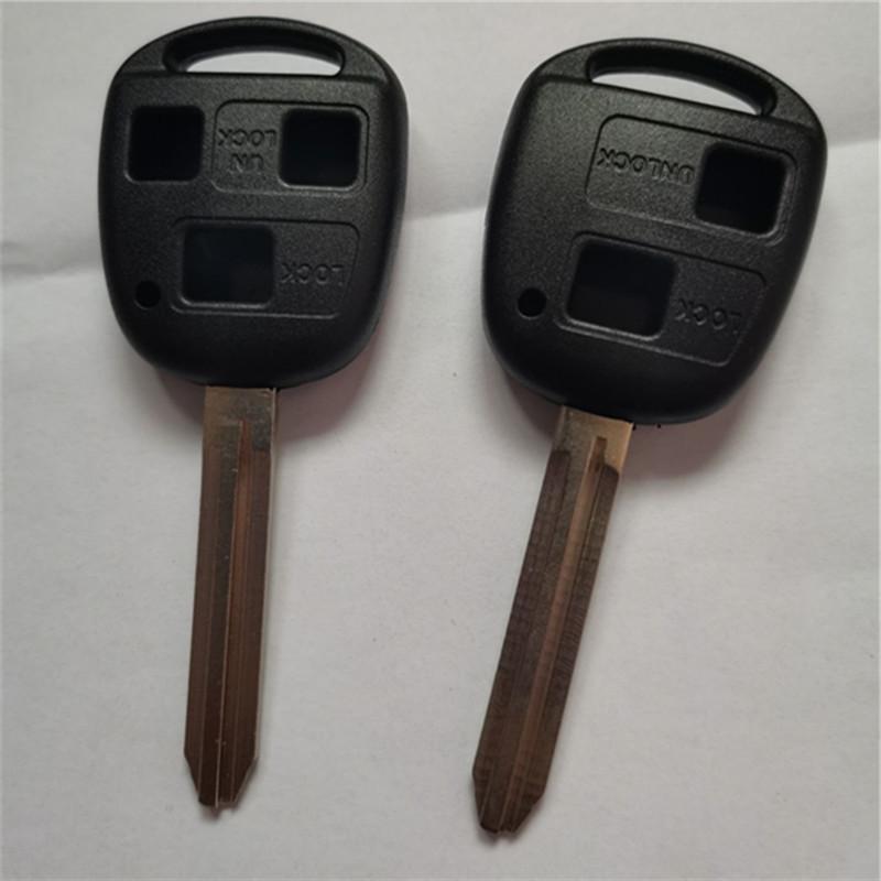 Para a Toyota Land Cruiser Prado Camry Previa RAV4 Yaris Corolla remoto chave Shell 2/3 Botão Com TOY43 Fob Key Cover