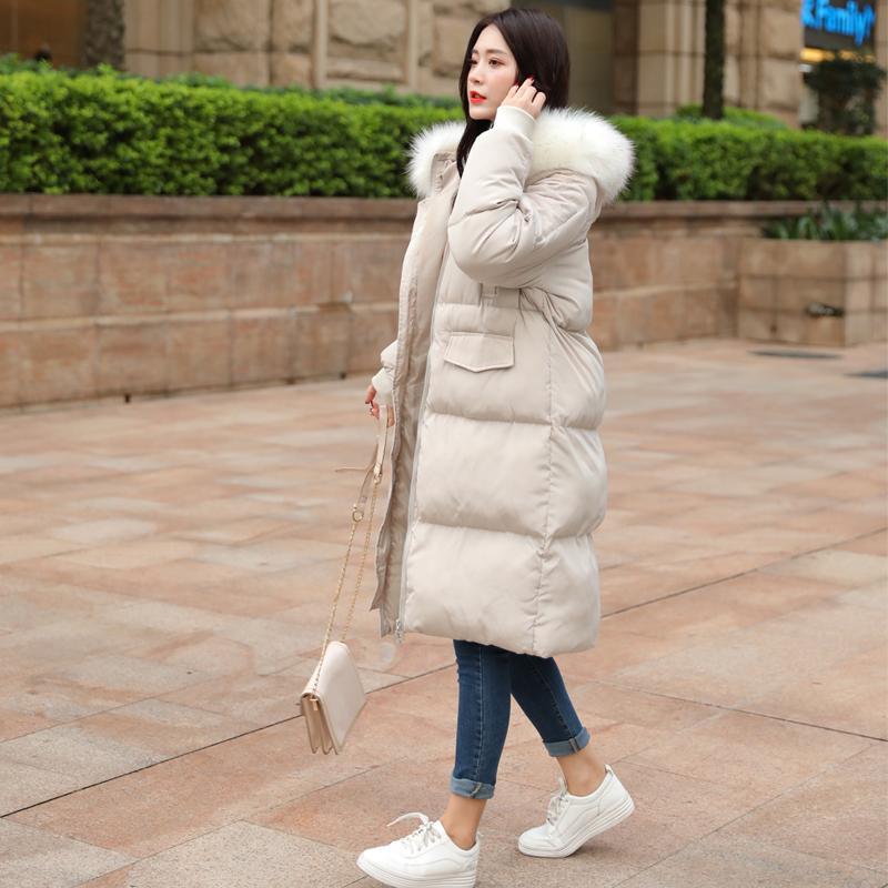Frauen Parka unten Winter Baumwolle Long Coat Wattierte Jacke Korean Plus Size Mäntel Parkas Mujer 2020 7707 KJ4455
