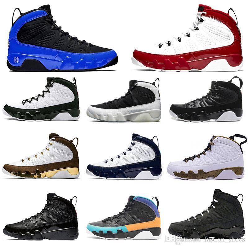 2020 Nike Air Jordan Retro scarpe rossa di pallacanestro degli uomini 9s IX rilascio sognarlo UNC L'Oreo Sneakers sportive spazio Bred marmellata Antracite 7-13