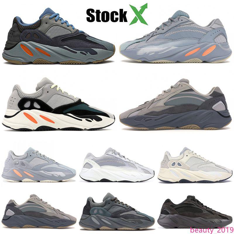 2020 Carbon синий 700 Магнит Светоотражающие Инерция тефра лиловый статический твердый серый Kanye West кроссовки мужские дизайнерские туфли женские кроссовки