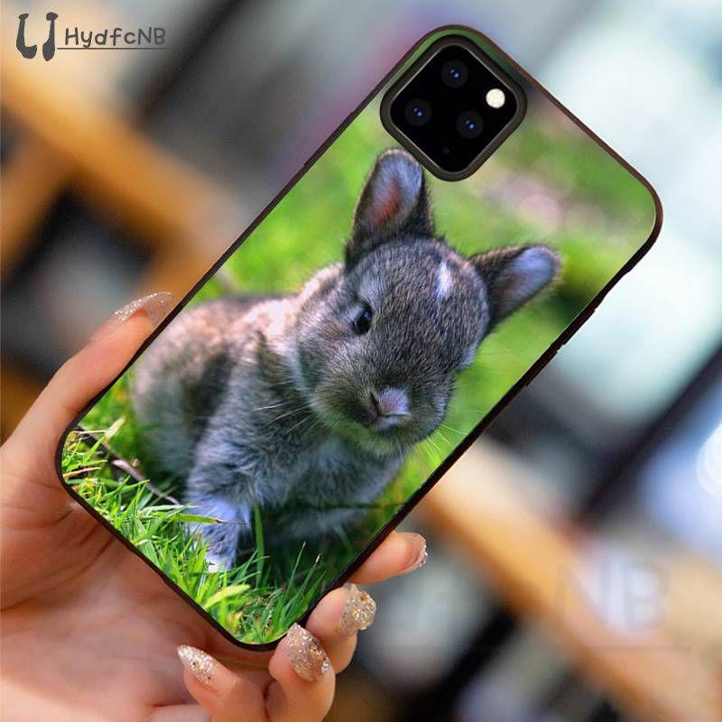 2020Cute маленький кролик TPU мягкий силиконовый телефон крышка чехол для iPhone 11 Pro XS MAX 8 7 6 6S Plus X 5 5S SE XR случае оптовой