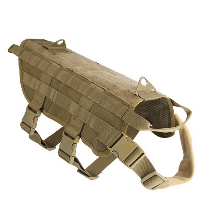 Armee Tactical Hundegeschirr Patrol Arbeitshundehalsband Middle Große Hundegeschirr Service-Hundeweste mit Griff Pet Products