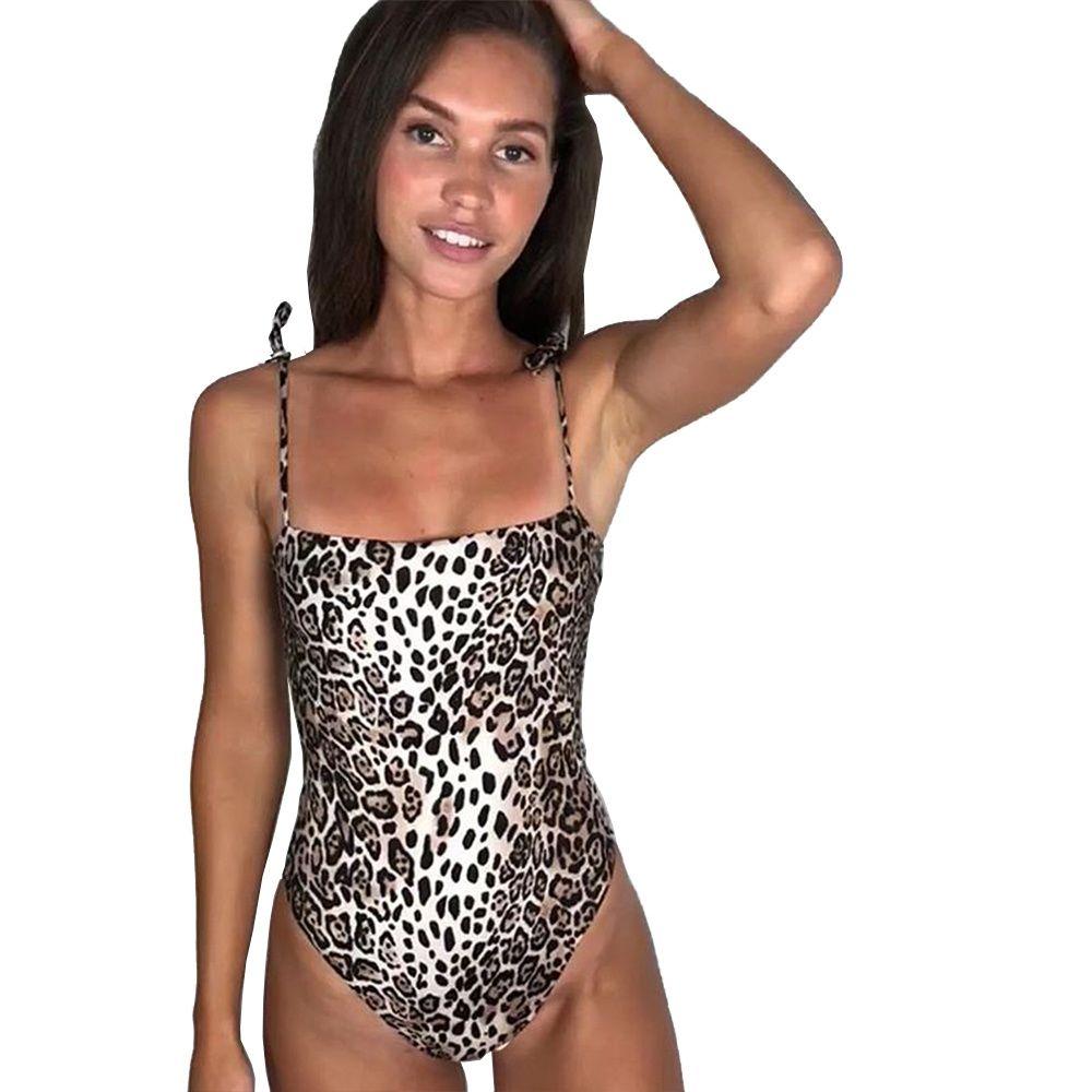 Femmes Sexy Cheetah Maillot De Bain Plage Vacances Tenues 30% Mode Maillots De Bain Été Spaghetti Bretelles Beachwear Bandage One Piece Maillots De Bain