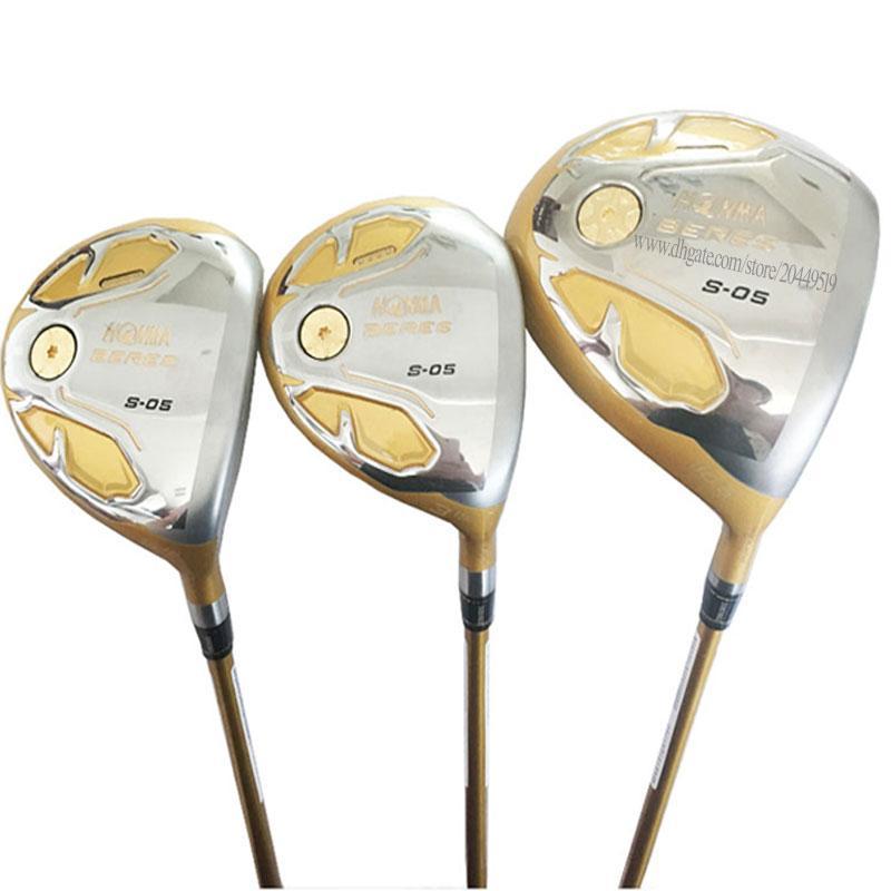 Set Nuova Golf Clubs HONMA S-05 Golf Legno 1 3 5 autista legno club Pozzo della grafite R o S Golf pozzo libera il trasporto