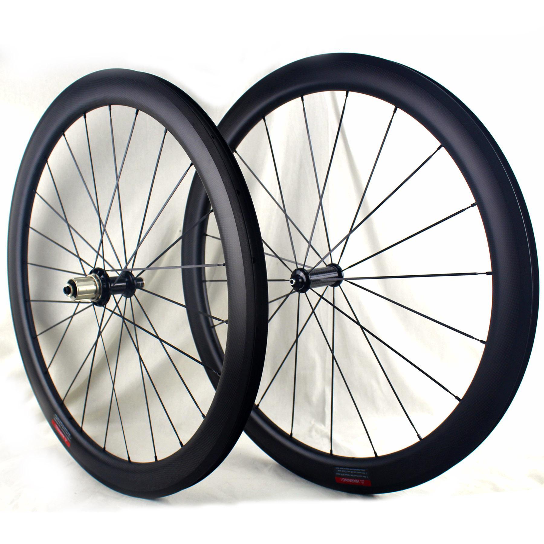 الطريق الكربون عجلات 38 50 60 ملم الفاصلة 700C لايحتاج مستعدة دراجة الكربون العجلات 3K مراكز مات Powerway R36