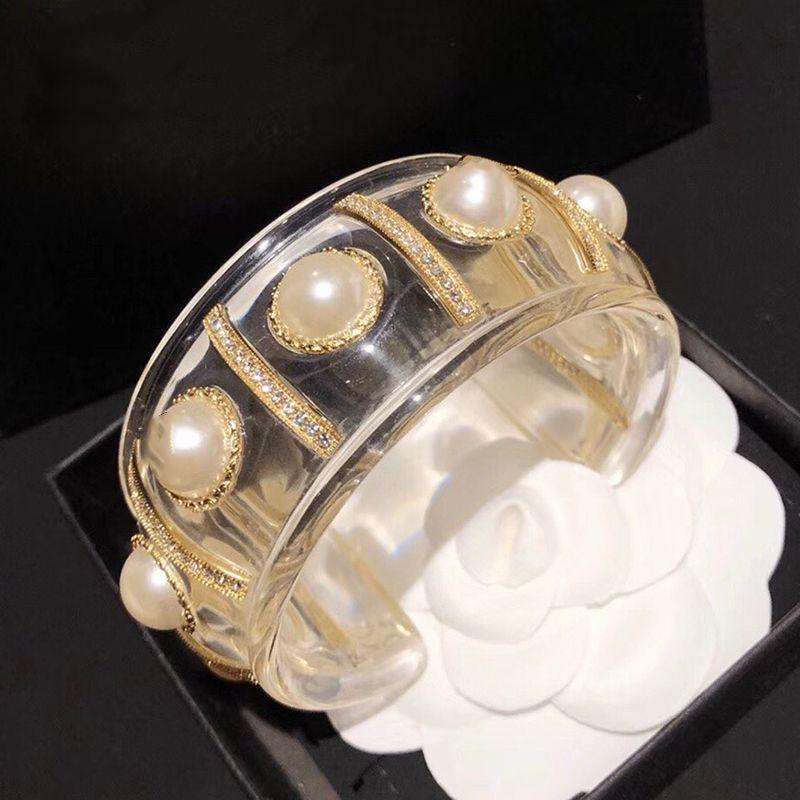 Caliente brazalete resina de la manera diseño de la joyería brazalete de la resina de Big perlas pulsera brazalete pulsera Marca caliente de cobre joyería